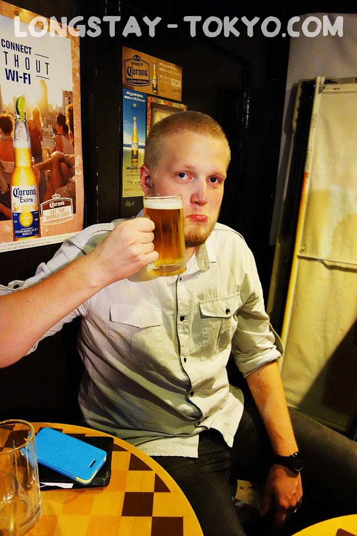 Last draft beer is for Tobi-chan